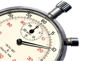 Stopwatch used for time management and habits
