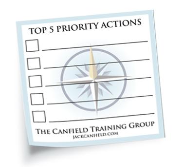 Top 5 Priority Actions Post-Its