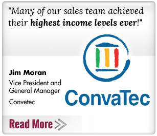 Many of our sales team acheived their highest income levels ever! Convatec