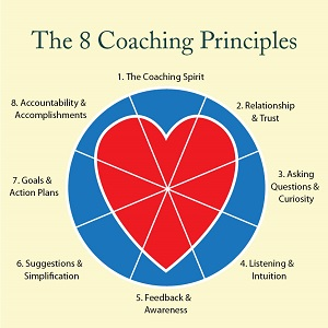 8 Coaching Principles infographic