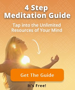a woman meditates at sunset using meditation guide by jack canfield
