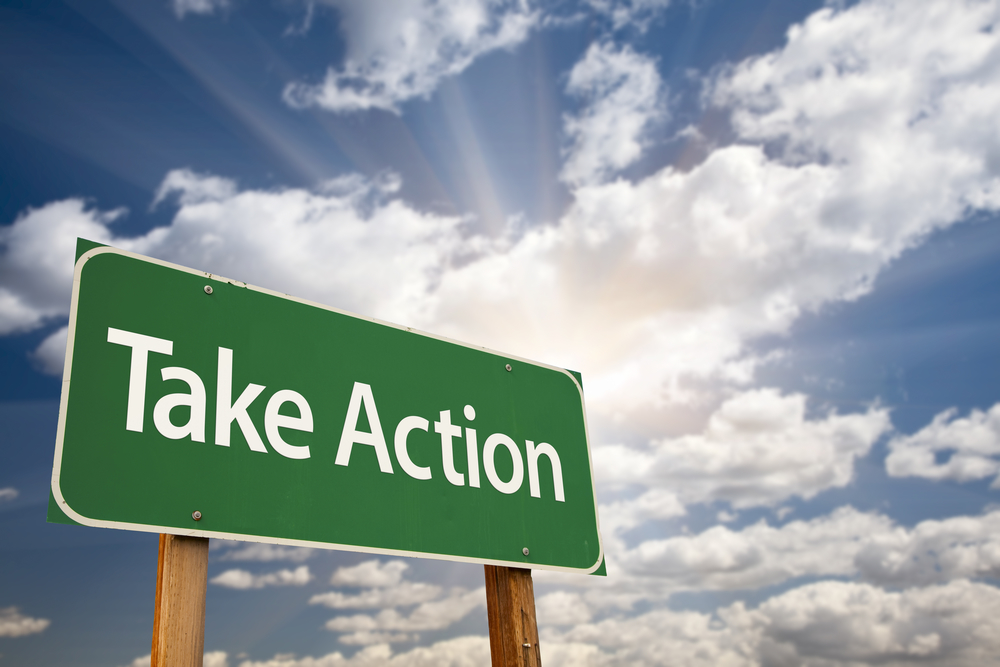take action sign